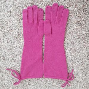 Nordstrom Pink Cashmere Long Gloves